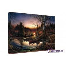 Картина на холсте по фото Модульные картины Печать портретов на холсте Речка
