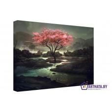 Картина на холсте по фото Модульные картины Печать портретов на холсте Волшебное дерево