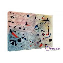 Joan Miro_001 - Модульная картины, Репродукции, Декоративные панно, Декор стен