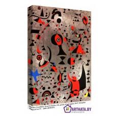 Картина на холсте по фото Модульные картины Печать портретов на холсте Joan Miro_013