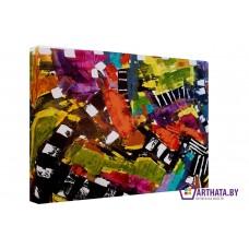 Картина на холсте по фото Модульные картины Печать портретов на холсте Цветные мазки