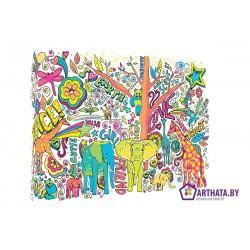 Зеленый слоник - Модульная картины, Репродукции, Декоративные панно, Декор стен