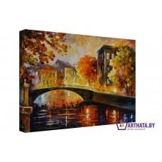 Картина на холсте по фото Модульные картины Печать портретов на холсте Городской мост