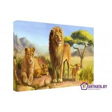 Картина на холсте по фото Модульные картины Печать портретов на холсте Король лев