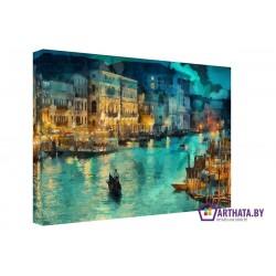 Речной канал - Модульная картины, Репродукции, Декоративные панно, Декор стен