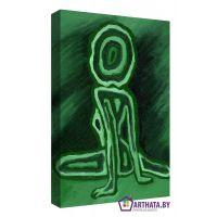 Портреты картины репродукции на заказ - Зеленый человечек