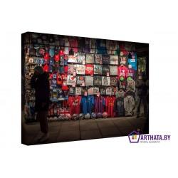 Футбольный болельщик - Модульная картины, Репродукции, Декоративные панно, Декор стен