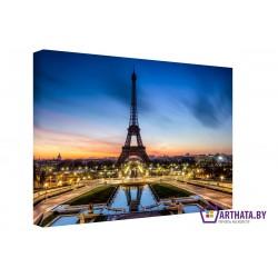 Огни Парижа - Модульная картины, Репродукции, Декоративные панно, Декор стен