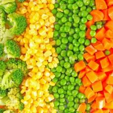 Фотообои - Брокколи, кукуруза, горошек и морковка
