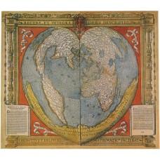 Фотообои - Древняя карта мира