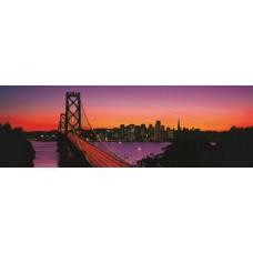 Фотообои - Мост в закате солнца