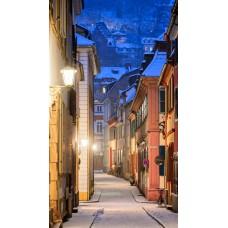 Фотообои - Город у подножия горы