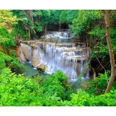 Фотообои - Зеленые водопады
