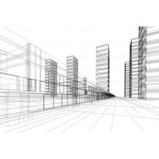 Фотообои - Проекция города